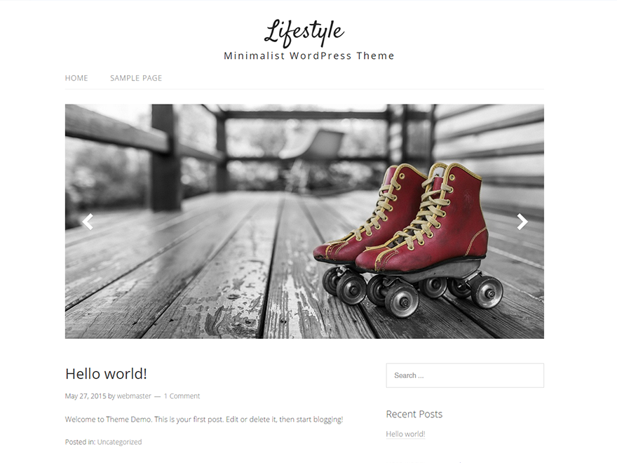 Lifestyle – Minimalist WordPress Theme | ThemeHit